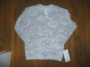 Lululemon ALL YOURS CREW TERRY INCOGNITO CAMO ALPINE WHITE MULTI  SZ 4 NWT