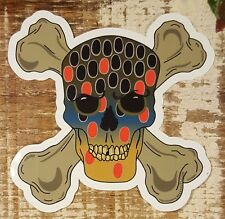 BROWN TROUT Skull & Crossbones Stickers Decals fly fishing rods flies