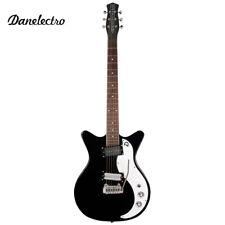 NEW Danelectro '59XT Classic Electric Guitar Black with Wilkinson Tremolo