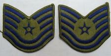 PAIR - AIR FORCE TECH SGT SLEEVE RANKS - SUBDUED  #USP1137