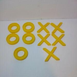 """Vintage Pressman, 1 7/8"""" 5 Zeros & 5 X's  / Tic Tac Toe Replacement Pieces"""