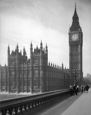 HOUSES OF PARLIAMENT, BIG BEN & WESMINISTER BRIDGE Glossy 8x10 Photo Poster