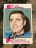 Earl Morrall AUTO 1973 Topps #414 Miami Dolphins Signed PSA