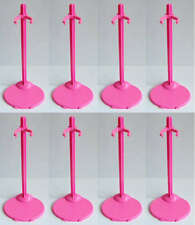 New Lot Of Barbie Doll toys accessories -- For 8 Pink Stands 12