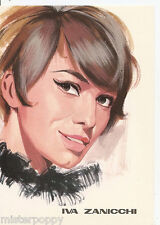 IVA ZANICCHI PC 1966 Cartolina Beat Pop Star Illustratore PICCHIONI