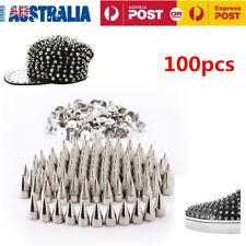 100Pcs 9.5mm Metal Bullet Stud Spikes Rivet Belt Clothes Leathercraft Fitting