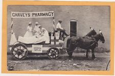 Real Photo Postcard RPPC - Garveys Pharmarcy Float Patient & Red Cross Nurse