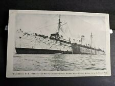 Wrecked USS YANKEE Classic unused postcard Naval Cover HEN & CHICKENS REEF, MASS