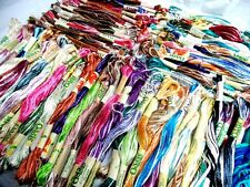 New 100 Variegated Oasis Art Silk Rayon Embroidery Skeins Threads Assorted Color