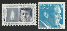 President John F. Kennedy JFK & Senator Robert F. Kennedy RFK US Stamps Set MINT