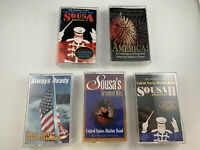 Lot of 5 Military Band Cassette Tapes Sousa Marine Air Force Coast Guard