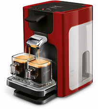 Philips Senseo Hd7863 Quadrante Kaffeepadmaschine Xl-wassertank rot