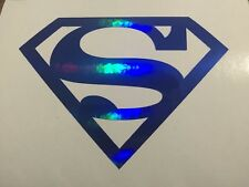 Superman Logo Comicbook Superhero Sticker/Decal Marvel BLUE OIL SLICK