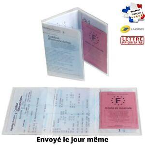 Étui Carte Grise, Pochette de Protection Transparente Pratique Economique France