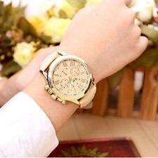 Women's Chic Platinum Romantic Numerals Faux Leather Analog Quartz Wrist Watches