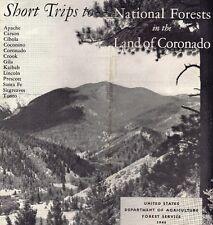 "brochure: 13 National Forests in Arizona New Mexico ""Land of Coronado"" 1940 USFS"