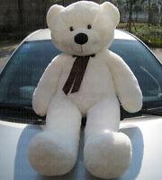 "56inch ""white""Teddy Bear Giant Huge Big Stuffed Animal Plush Soft 140cm+EMS SHIP"