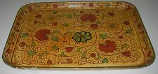 Antique Jerywil Japan Toleware Tray Paper Mache Hand Painted Rectangular Floral