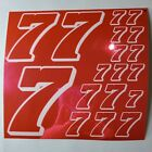 PINK CHROME w/White #7's Decal Sticker Sheet DEFECTS  1/8-1/10-1/12 RC Mo BoxD