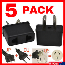 USA EU Euro Asia to AU Aus Aust Australian Power Plugs Travel Adapter