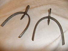 Spurs 19th century hand made 7cm wide & 8cm long steel