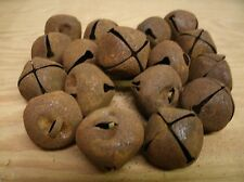 "Lot of 18 Rusty Jingle Bells 25mm / 1"" Primitve Rustic Country crafting"