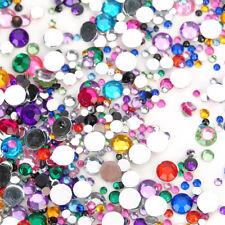 1440 Flat Back Resin Rhinestones Gem Diamante Crystal 2 3 4 5 6mm Multi-Color