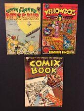 UNDERGROUND COMIX BOOK #1 Yellow Dog 23 LITTLE GREEN DINOSAUR 2 Last Gasp Comics