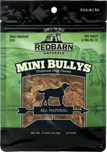 Redbarn Naturals Mini Braided Bully Sticks Dog Treat Wide Variety  Free Shipping