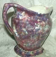 EARLY AUSTRALIAN WATER JUG PITCHER  Canadian Ware Spongeware Bendigo Pottery