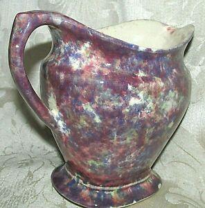 Bendigo Pottery WATER JUG PITCHER Spongeware Mottled Glazes Antique Vintage