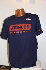 Denver Broncos Nike Training Apparel Tshirt Mens - Blue - Large