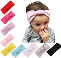 Newborn Baby Girls Kids Toddler Soft Elastic Knot Bow Headband Bow Photo Prop