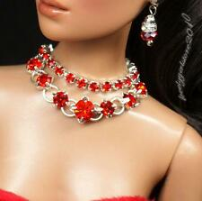 """Rhinestone Necklace and Earring Jewelry Set for 16"""" Tonner Tyler doll 011B"""