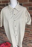 Sonoma Mens Short Sleeve Geometric Sz XL Shirt