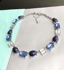 WHBM White House Black Market blue Rhinestone choker necklace NEW