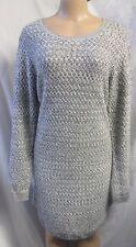 """ANN TAYLOR LOFT"" GRAY TEXTURED KNIT CAREER  SHIFT SWEATER DRESS SIZE: XL NWT"