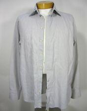Armani Collezioni Men's Button-Up Long Sleeve Shirt 39 15 1/2 Large Cotton 009