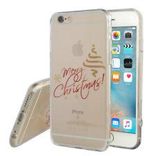 Carcasa Funda de Silicona TPU Ultra Fina Abeto Navidad para Apple iPhone 6/ 6s