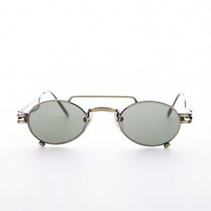 Small Bronze Steampunk Aviator with Oval Green Lens -The Professor