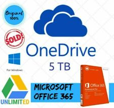 ⭐ OneDrive 5 TB + Office 365 + Google Unlimited for free