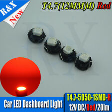4X RED T4.7 LED SMD FOR VW GOLF MK4 99-2004 DASH CLOCKS LIGHTS BULB INTERIOR 12V