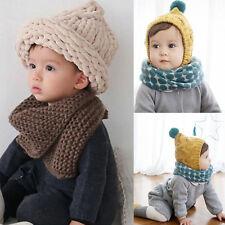 Baby Boy Girl Kids Children Toddler Neck Wrap Scarf Knitted Shawl Neckerchief UK