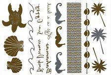 Sensational Oro E Argento Metallico Tatuaggi Temporanei (Riva 5) + FREE Design