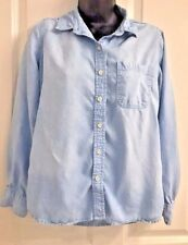 Women's Mossimo Supply co Long Sleeve Button Front Denim Look Shirt M
