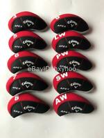 10PCS Golf Iron Covers for Callaway APEX Club Headcovers Caps 4-LW Red&Black