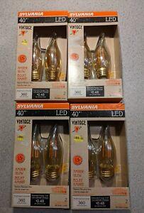 SYLVANIA 40W (4W) Amber Glow Vintage LED Dimmable 8 Light Blubs New NIB