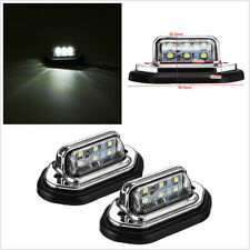 2pcs 6 LED License Plate Light Signal Tail Light Fit For Boat Truck Trailer SUV