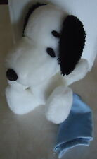 """VINTAGE 1968 UNITED FEATURE 6"""" SNOOPY PLUSH W/BLUE BLANKET"""