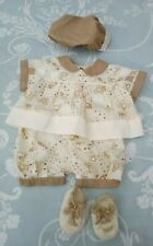 Baby Doll Clothes hat shorts top bootees 0-3 months
